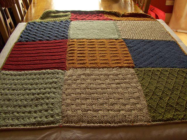 Knitted squares blanket | Knitting - Afghans, Blankets ...