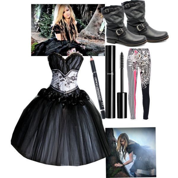 Avril Lavigne Wedding Gown: Avril Lavigne Alice Outfit - Polyvore