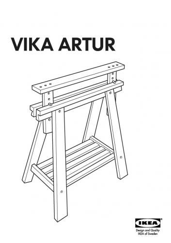 IKEA VIKA ARTUR Desk Leg Instructions By Tigratrus