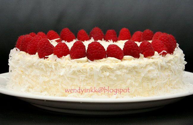 Table for 2.... or more: Coconut Raspberry Lemon Cake - Rasps Whole Cakes # 1