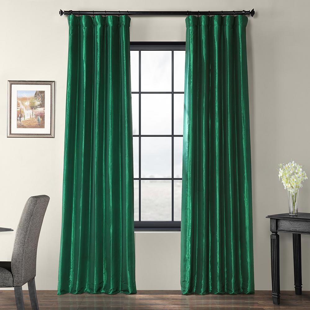 Exclusive Fabrics Furnishings Emerald Green Light Filtering Faux