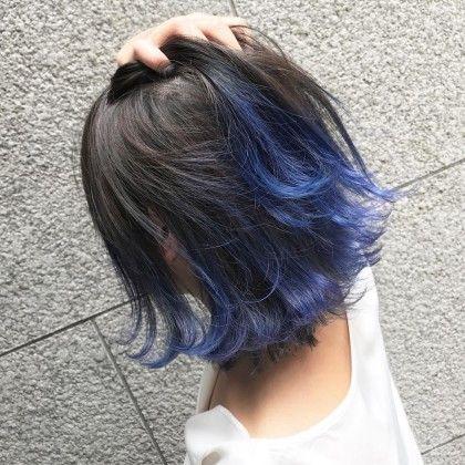 カラー ブルーのグラデーションカラー 可愛すぎます