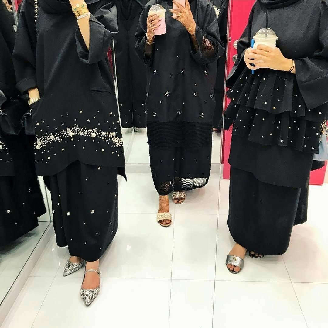 Pinned By Muskajahan Abaya Khaleeji Style Abaya Fashion Dubai Abaya Fashion Islamic Clothing