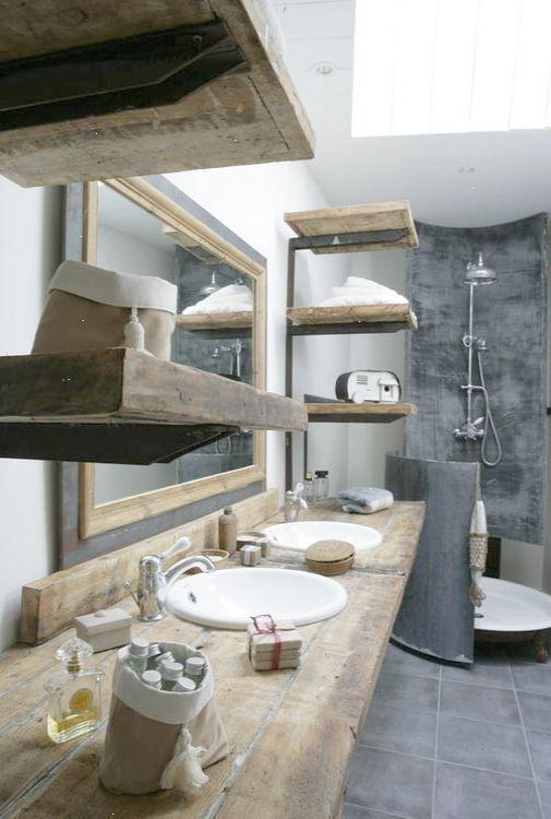 Salle de bain rustique avec touche minimaliste | Rustic Bathrooms ...