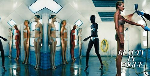 Beauty in Vogue Italia August 2010 by Steven Klein