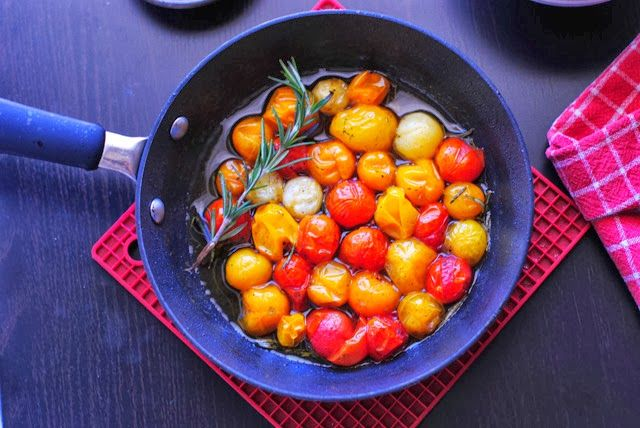 French Foodie Baby: Back... with gratitude & vanilla rosemary cherry tomatoes