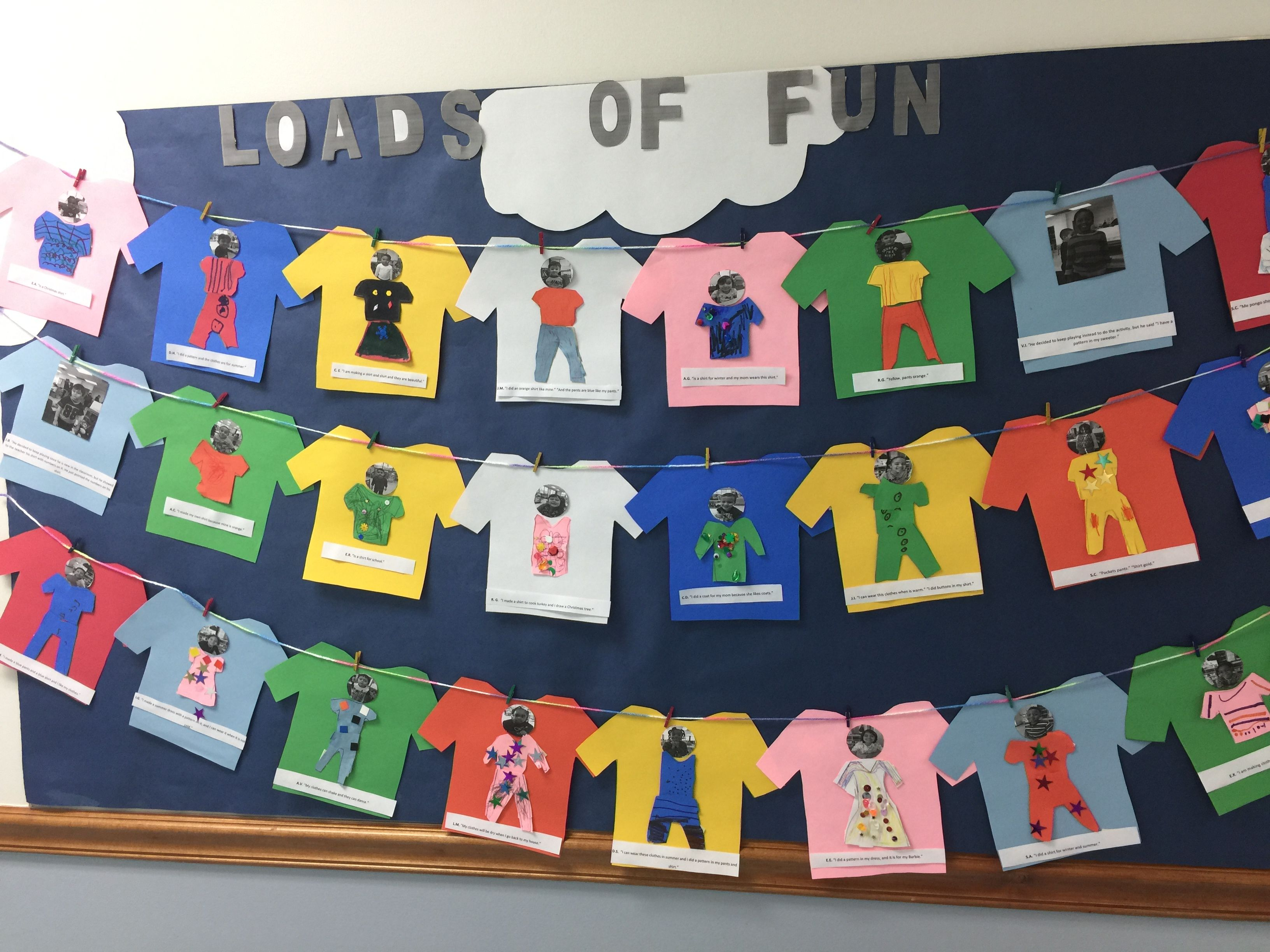 Bulletin Board About Clothes Study