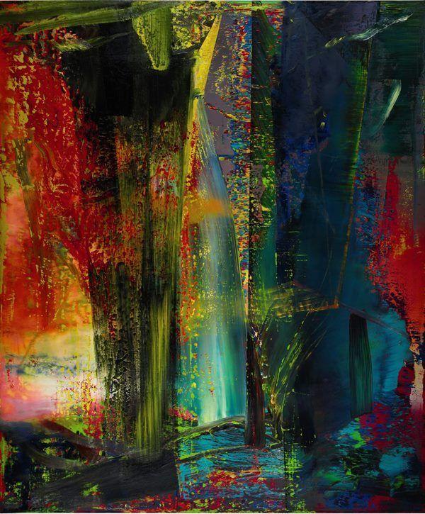 abstraktes bild 1986 by gerhard richter painting abstract art diy abstrakt rot moderne malerei