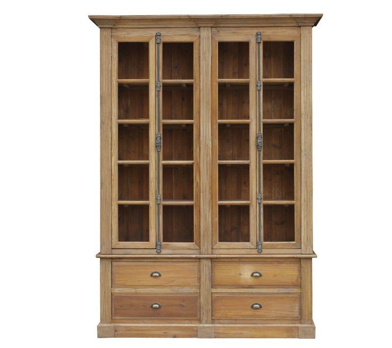 Industrial Four Door Bookcase