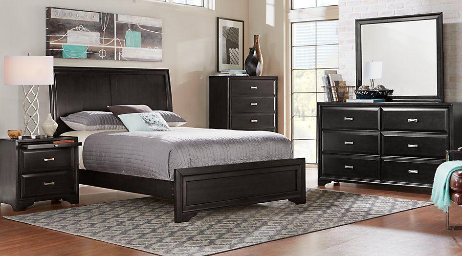Belcourt Black 5 Pc Queen Sleigh Bedroom | King size bedroom ...