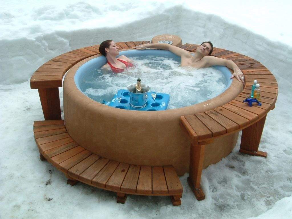 Winter wonderland - Softub is a great warm up! | Softub | Pinterest ...