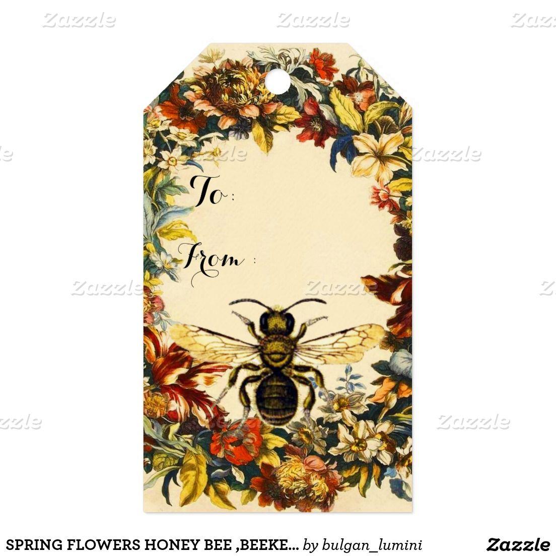 Spring flowers honey bee beekeeper christmas gift tags bees spring flowers honey bee beekeeper christmas gift tags mightylinksfo