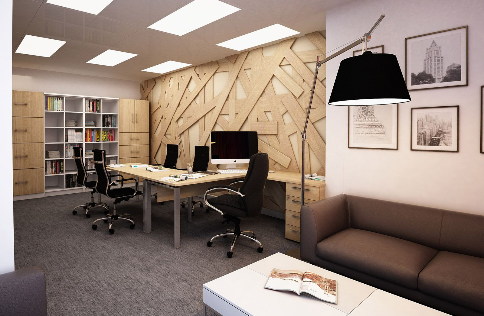 Простой дизайн офиса фото