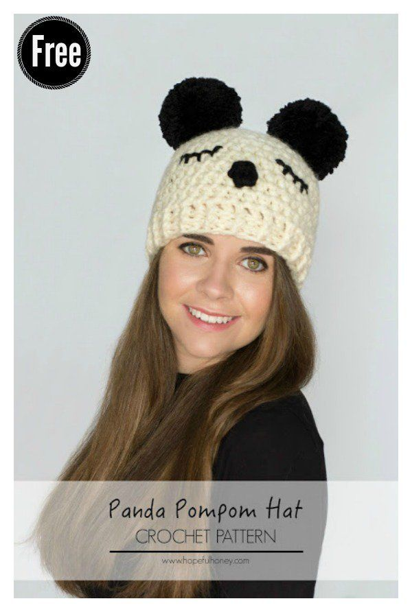 Double Pom Pom Hat Free Crochet Patterns for Beginners | Pinterest ...