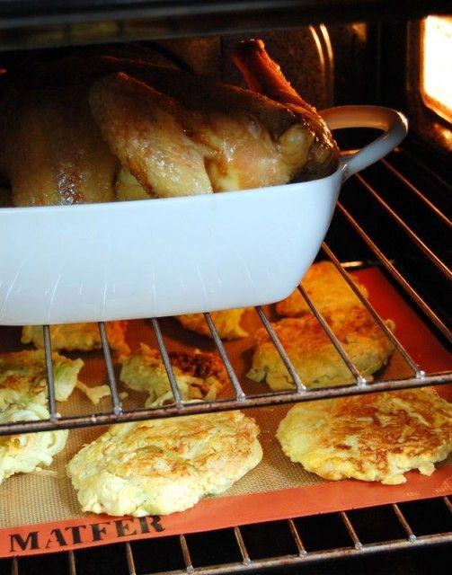 Courgettes au parmesan façon paillasson