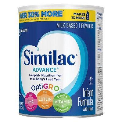 Similac Advance Infant Formula Powder Stage 1, 1.93lb (6 pk)