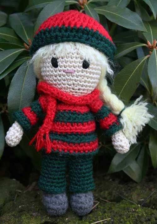 Bambola amigurumi con fubanda patrón gratis en italiano, con google ...