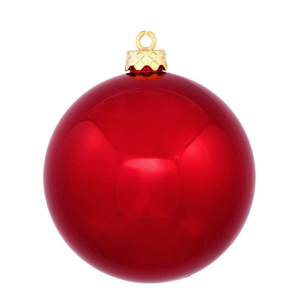 Red Christmas Ornaments.Northlight Shatterproof Shiny Red Hot Christmas Ball