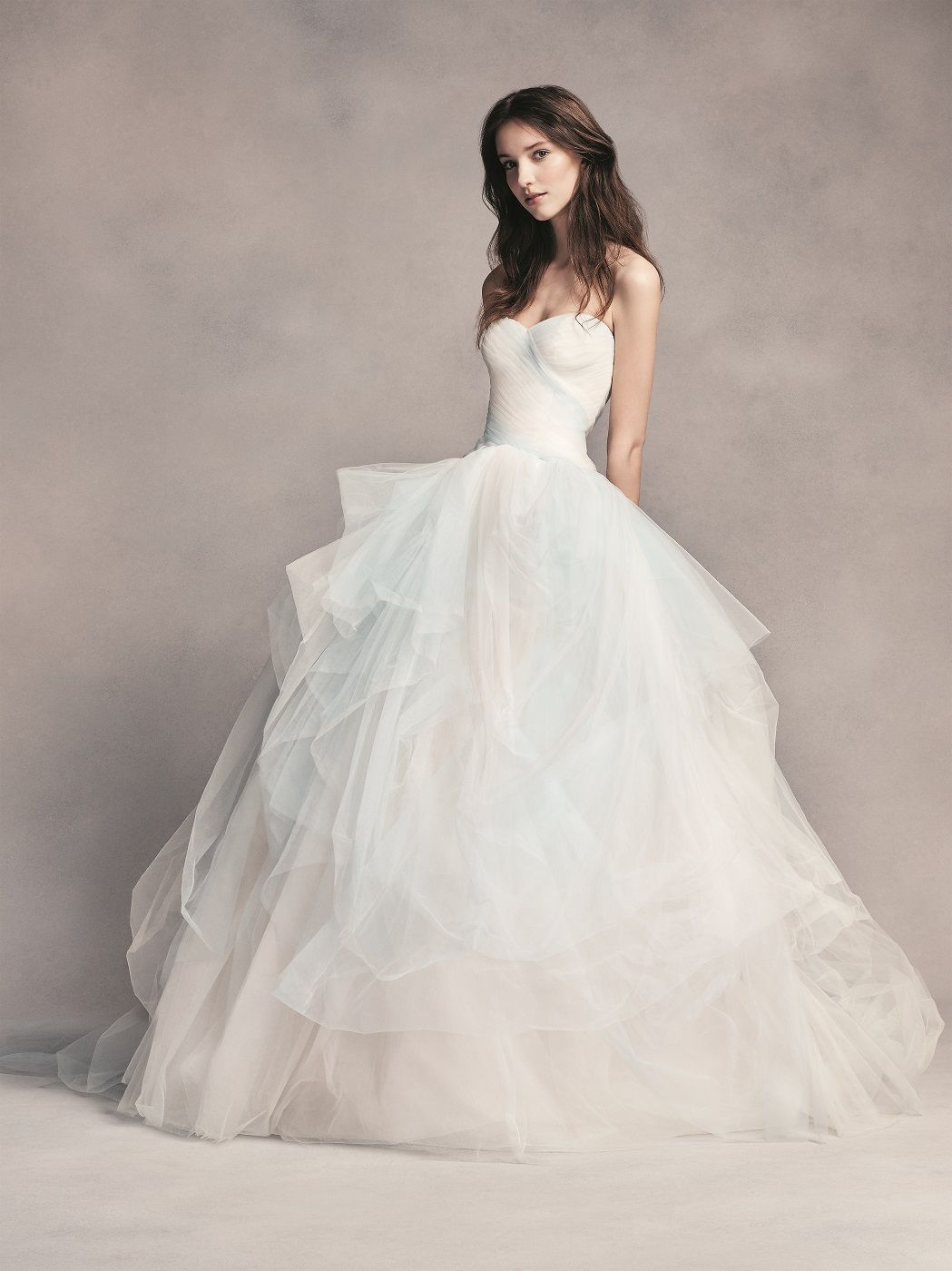 56b3fc84993 Strapless Blue Ombre Tulle Ball Gown White by Vera Wang Wedding Dress  available at David s Bridal