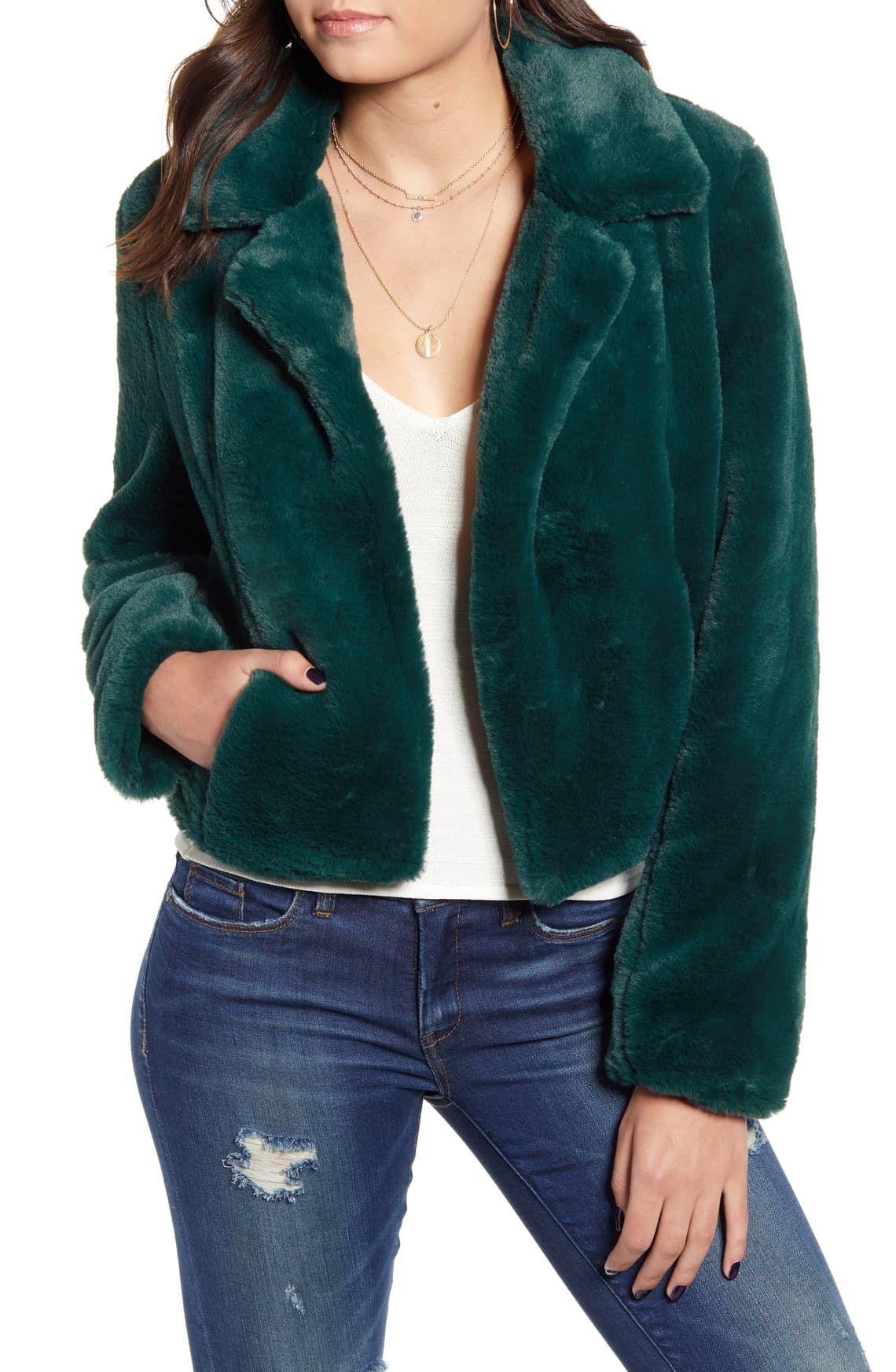 BLANKNYC Crop Faux Fur Jacket Nordstrom Fur jacket