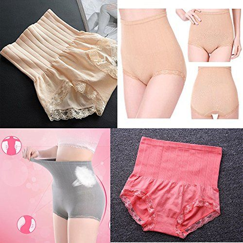 c191fe0c4f5a5 2pack Beige and Pink Japan Munafie High Waist Slimming Panty Seamless Body  Belly Shaper     Visit the image link more details.