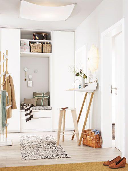 Einrichtungsideen einen kleinen flur gestalten in 2019 for Kleine garderobe einrichten