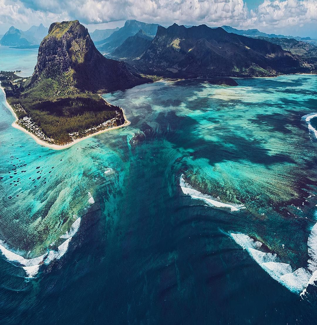 Image result for Mauritius' Underwater Waterfall Illusion/ face2face africa