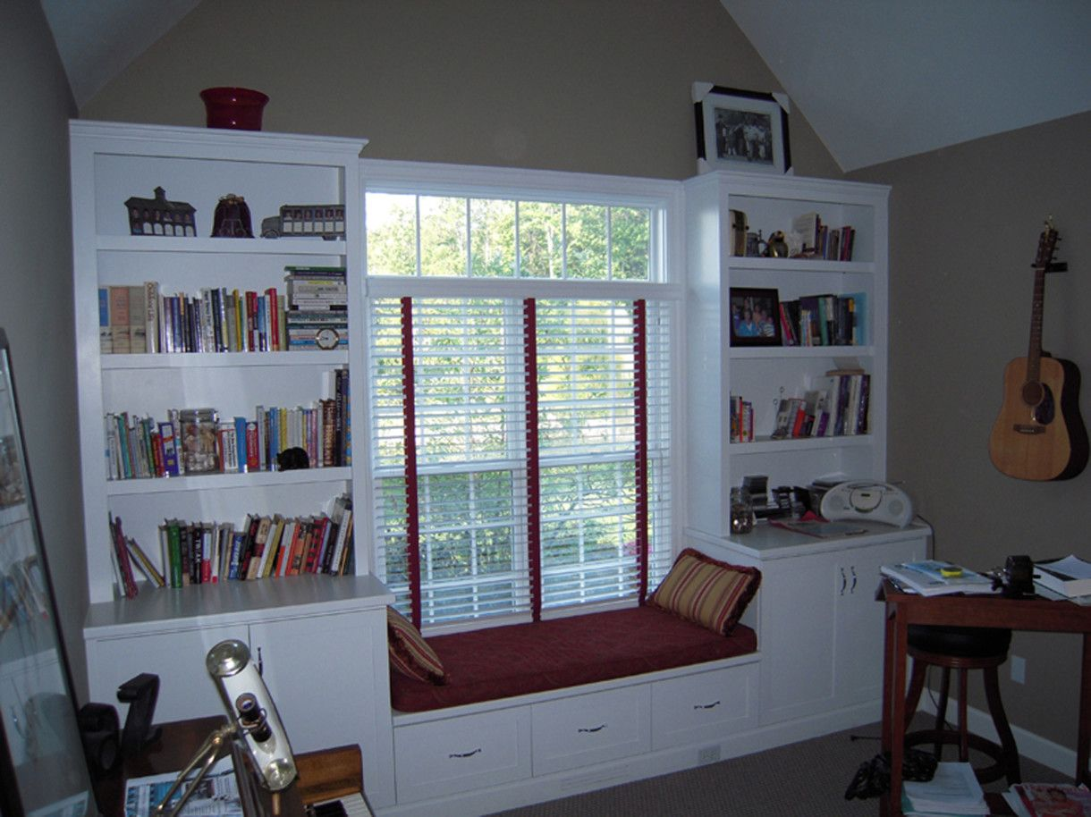 Alluring Ikea White High End Bookshelves Adjoining Window