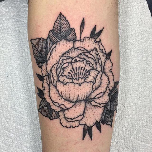 Black floral fashionink