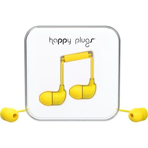 Happy Plugs Yellow In Ear Headphones Iphone Earbuds In Ear Headphones Earbuds
