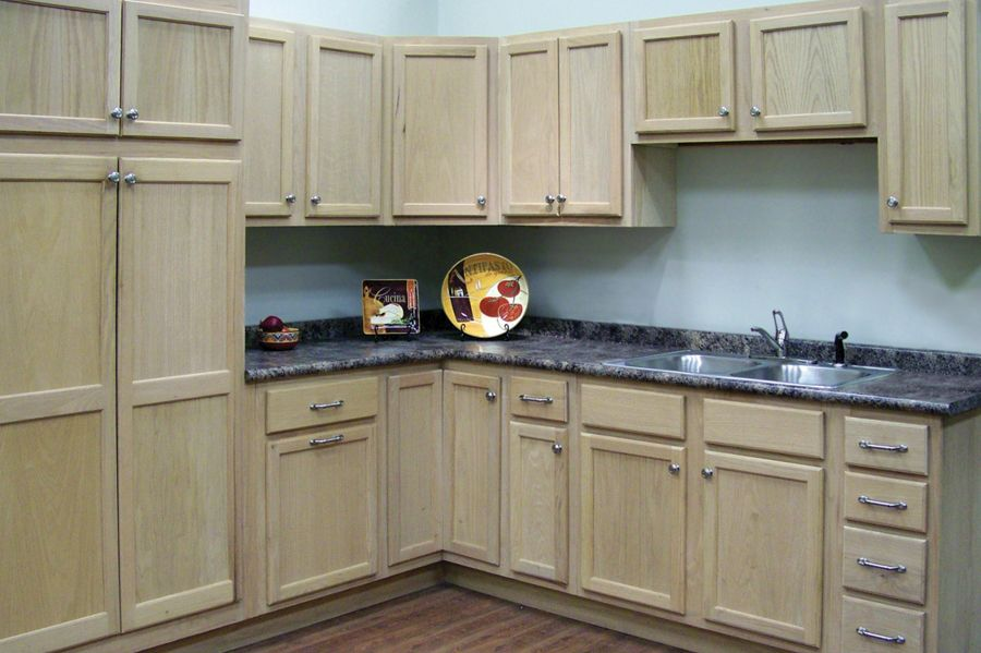 Unfinished Oak With Images Unfinished Kitchen Cabinets Unfinished Cabinets Oak Kitchen Cabinets