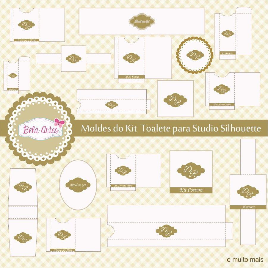 Moldes Kit Toalete Pra Studio Silhouette Toalete Kit Para