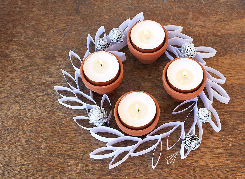 How to make easy paper leaf advent wreath » [es.kaa