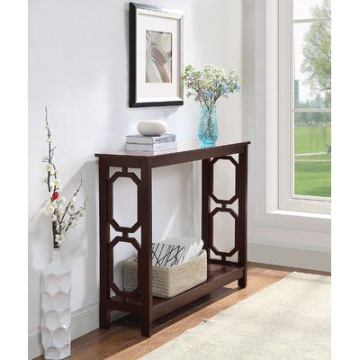 Beachcrest Home Ardenvor Console Table Table Top Color Espresso