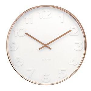 White And Copper Wall Clock Clocks