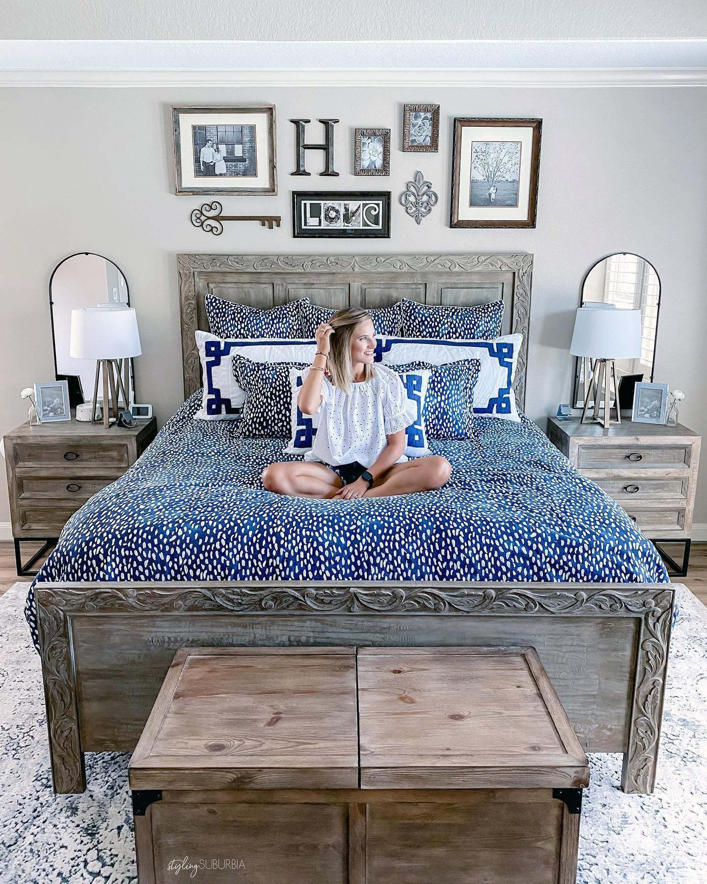 New Bedroom Furniture Reveal Love My New Bed Frame And Nightstands From Homesourcefurnitu Master Bedroom Furniture Stylish Master Bedrooms Neutral Bedrooms