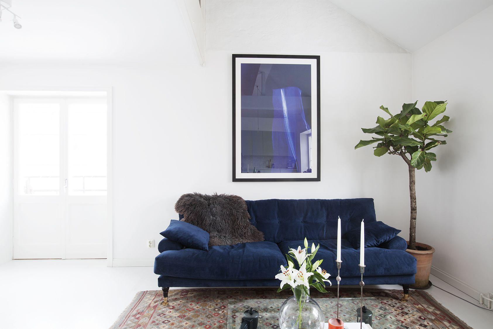 Blue velvet sofa | Blue Interiors/Decor | Pinterest | Blue velvet ...