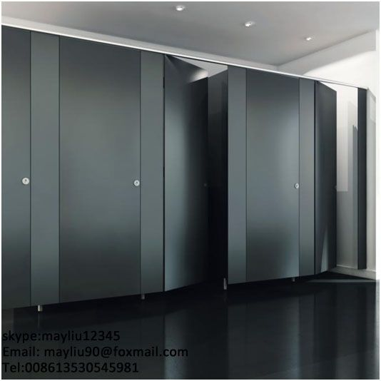 Solid Phenolic Core Toilet Partition And Stainless Steel Hardware - Bathroom partitions miami