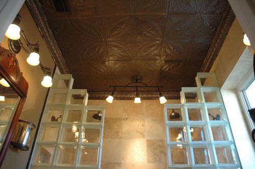 Bathroom Ceiling, Tin Foil Tiles |