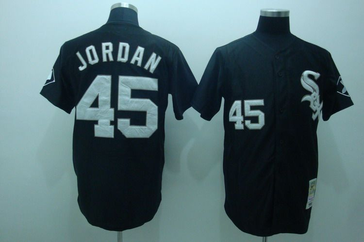 ffb416b76a3 MLB Jerseys Chicago White Sox Michael Jordan #45 Black ...