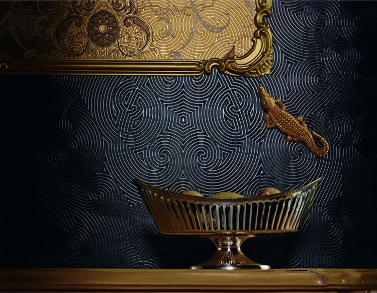 designer tapeten marburg glaackler anthrazit geometrisch 3d