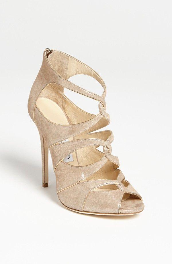 82302acc61dc Nude wedding heels with a slight metallic sheen