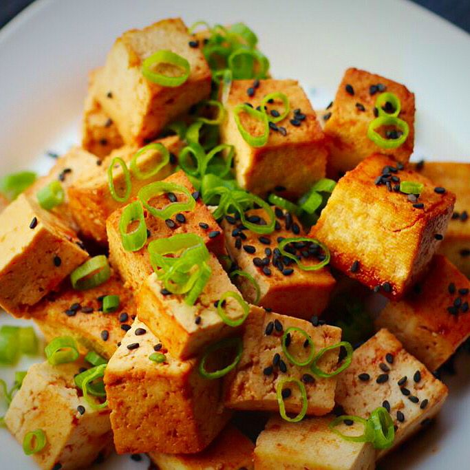 Tasty baked tofu - kid approved! Vegetarian, PCOS friendly, gluten free and delicious!