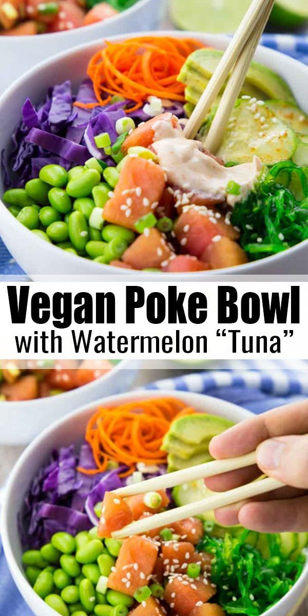 Vegan Poke Bowl with Watermelon