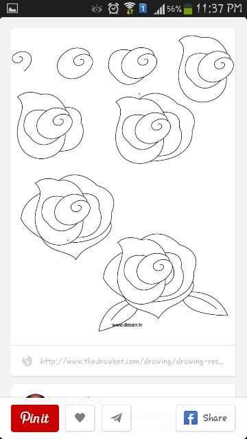 How 2 Draw Roses Drawing Flower Drawing Flower Drawing Tutorials