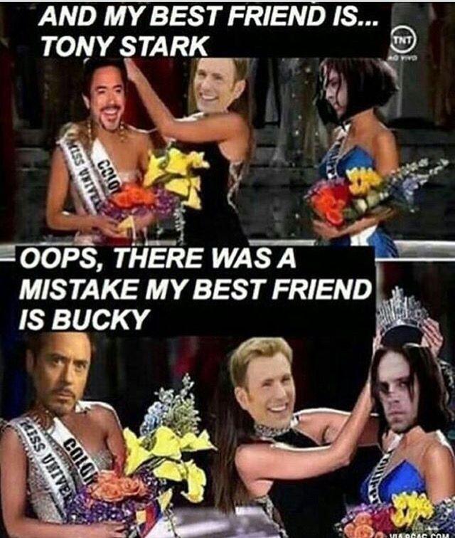 LOL Captain America Tony Stark Bucky Barnes