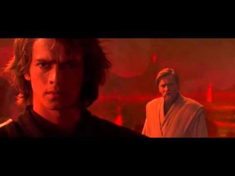 Revenge Of The Sith Anakin Skywalker Fights Obi Wan Kenobi Youtube Star Wars Anakin Obi Wan Star Wars