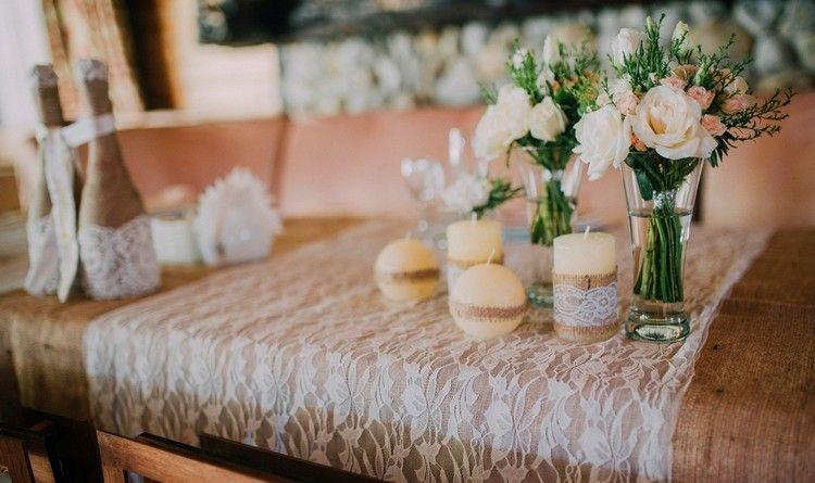 mariage champ tre chic en 30 id es d co pleines de fra cheur mariage champ tre table. Black Bedroom Furniture Sets. Home Design Ideas