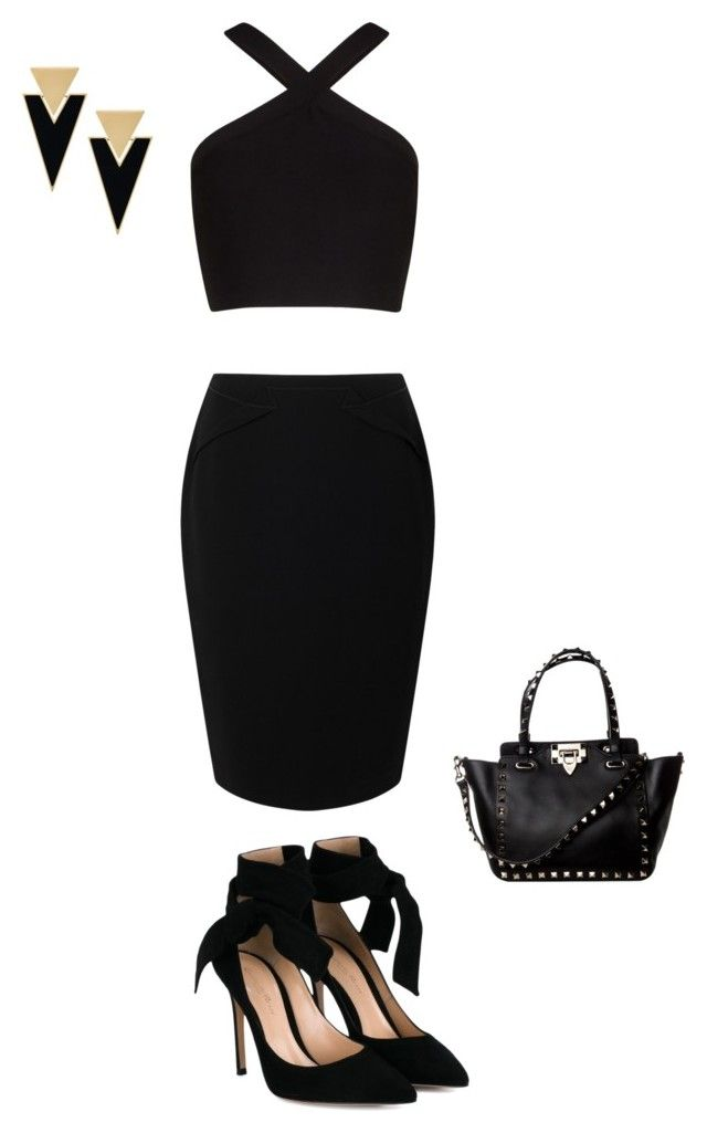 """""""a night out"""" by sarahgracedukes ❤ liked on Polyvore featuring Jacques Vert, BCBGMAXAZRIA, Gianvito Rossi and Yves Saint Laurent"""