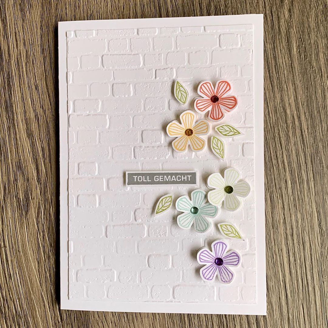 Janina on Instagram advertising flower card with a lot of white and an embossed background Janina on Instagram advertising flower card with a lot of white and an embossed...